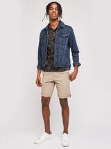 Polo en jersey imprimé tropical