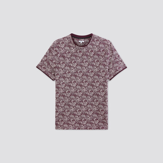 Tee-shirt imprimé effet 2 en 1