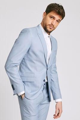 Veste de costume slim matière reliefée stretch