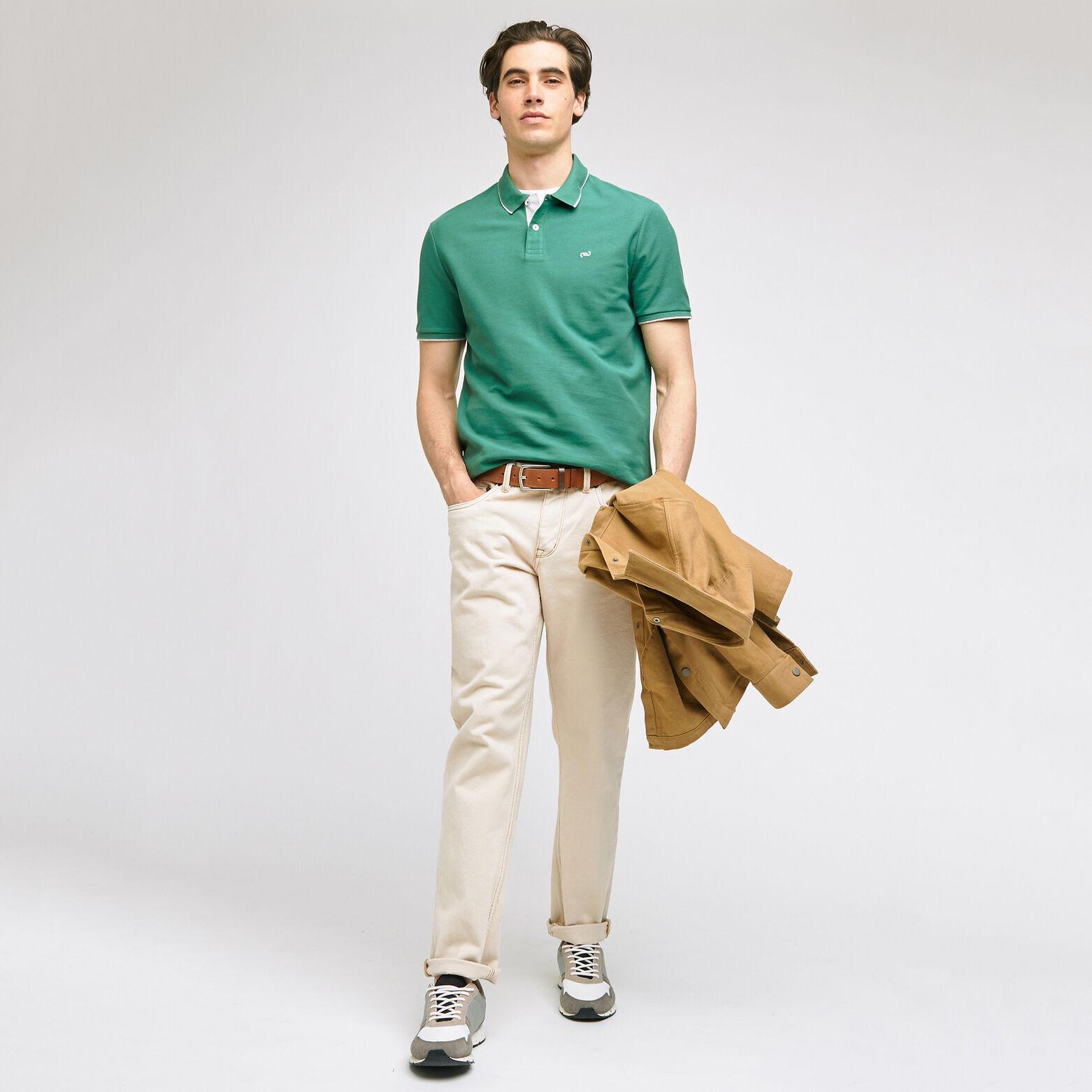 Polo manches courtes en coton biologique