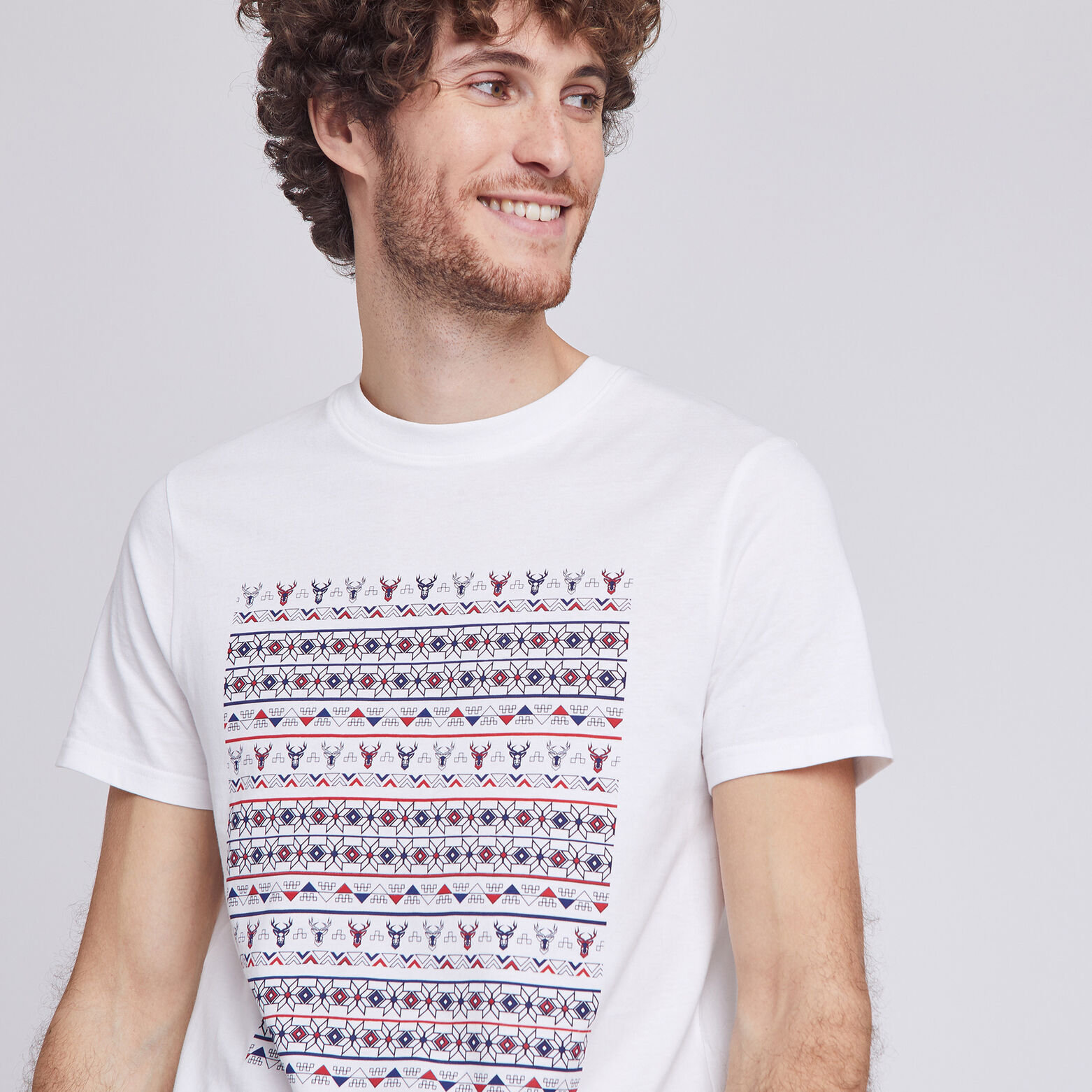 Tee shirt adulte Cerf graphique