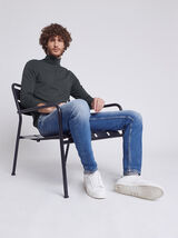 Tee-shirt col roulé uni