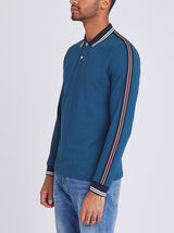 Polo manche longue style rugby