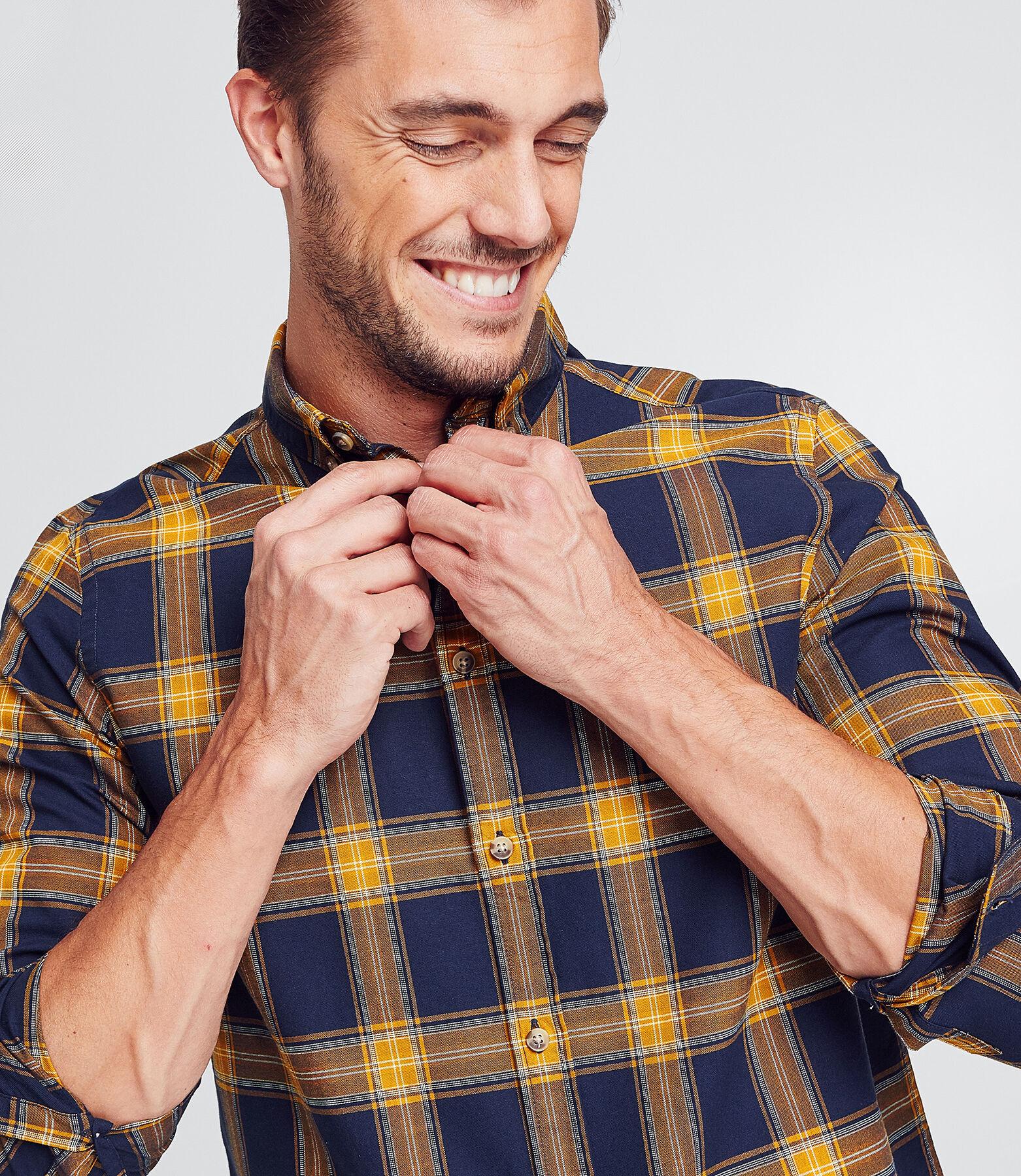Regular geruit hemd