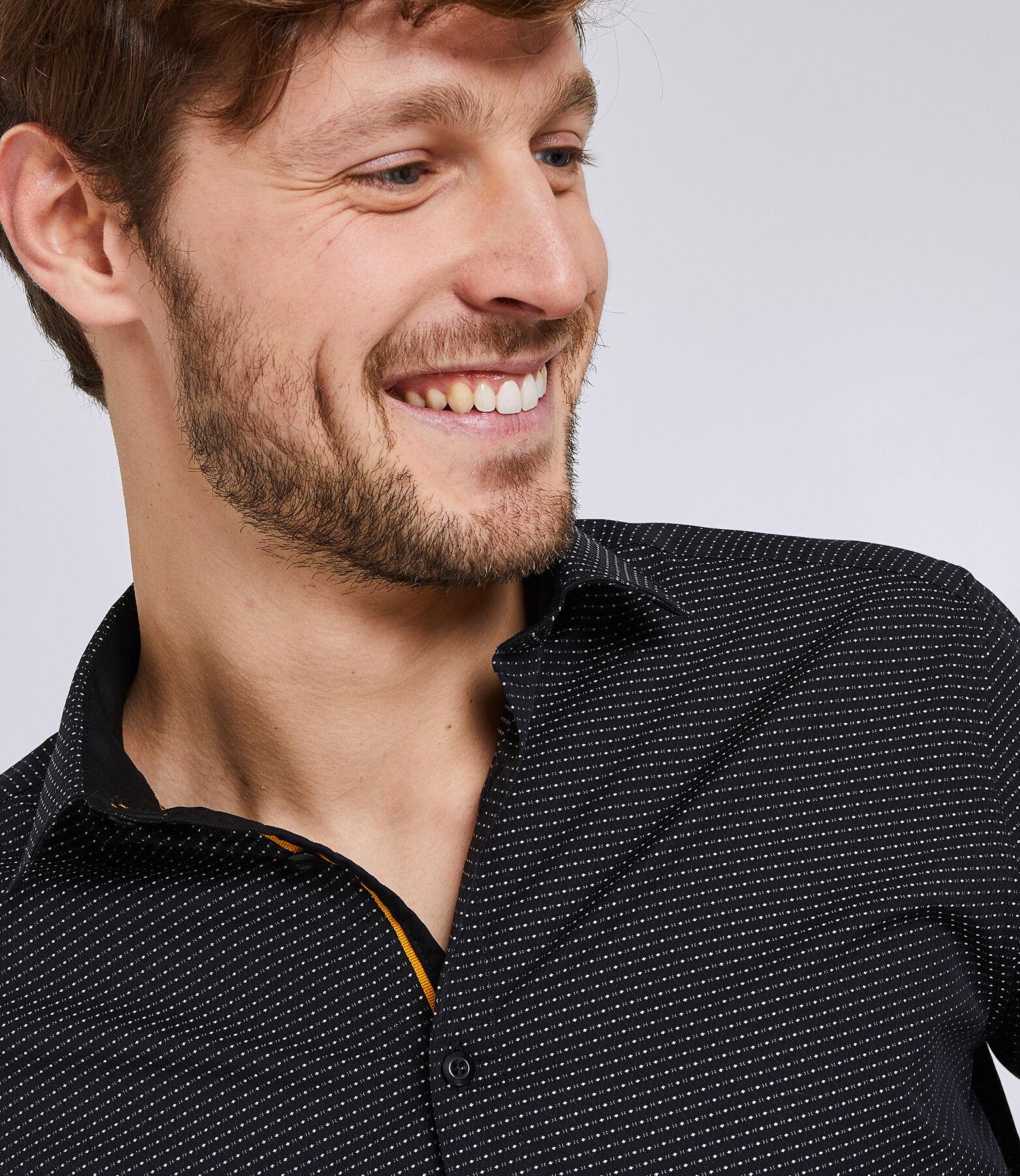 Hemd met rechte snit en borduursel