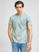 tee-shirt en coton/lin imprimé