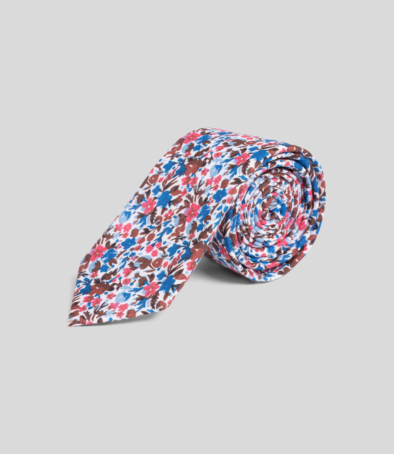 Cravate imprimé fleurie