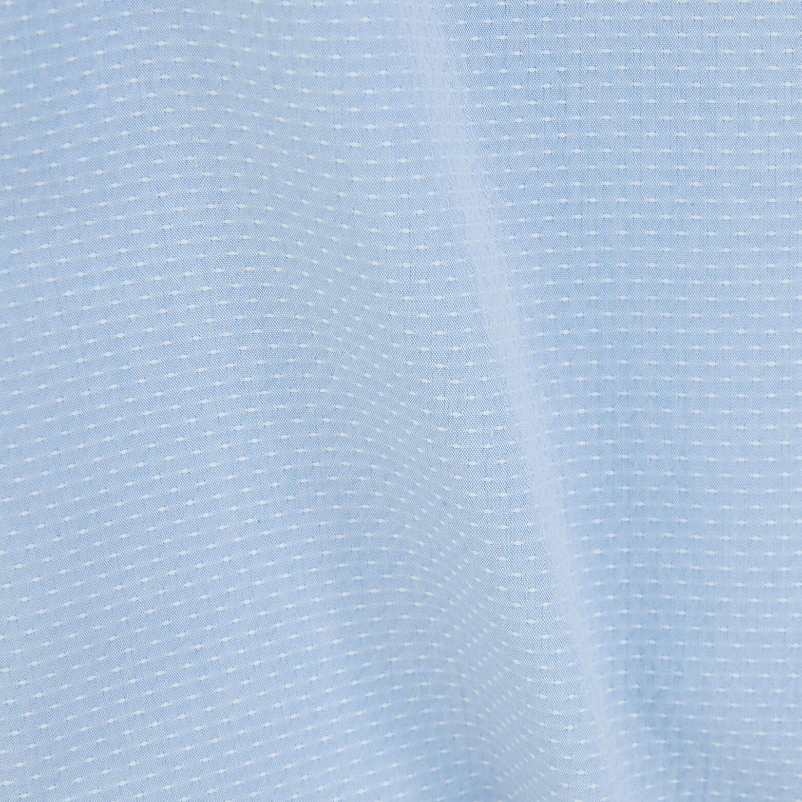 Chemise slim manches courtes coton