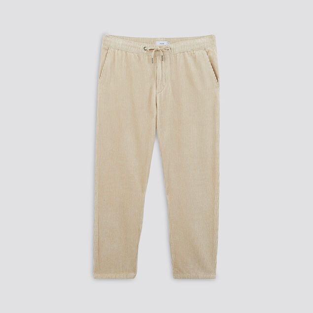 Pantalon jogger en velours