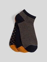 Lot de 3 paires de chaussettes tiges basses  à mot