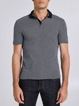 Poloshirt met korte mouw, contrasterende kraag