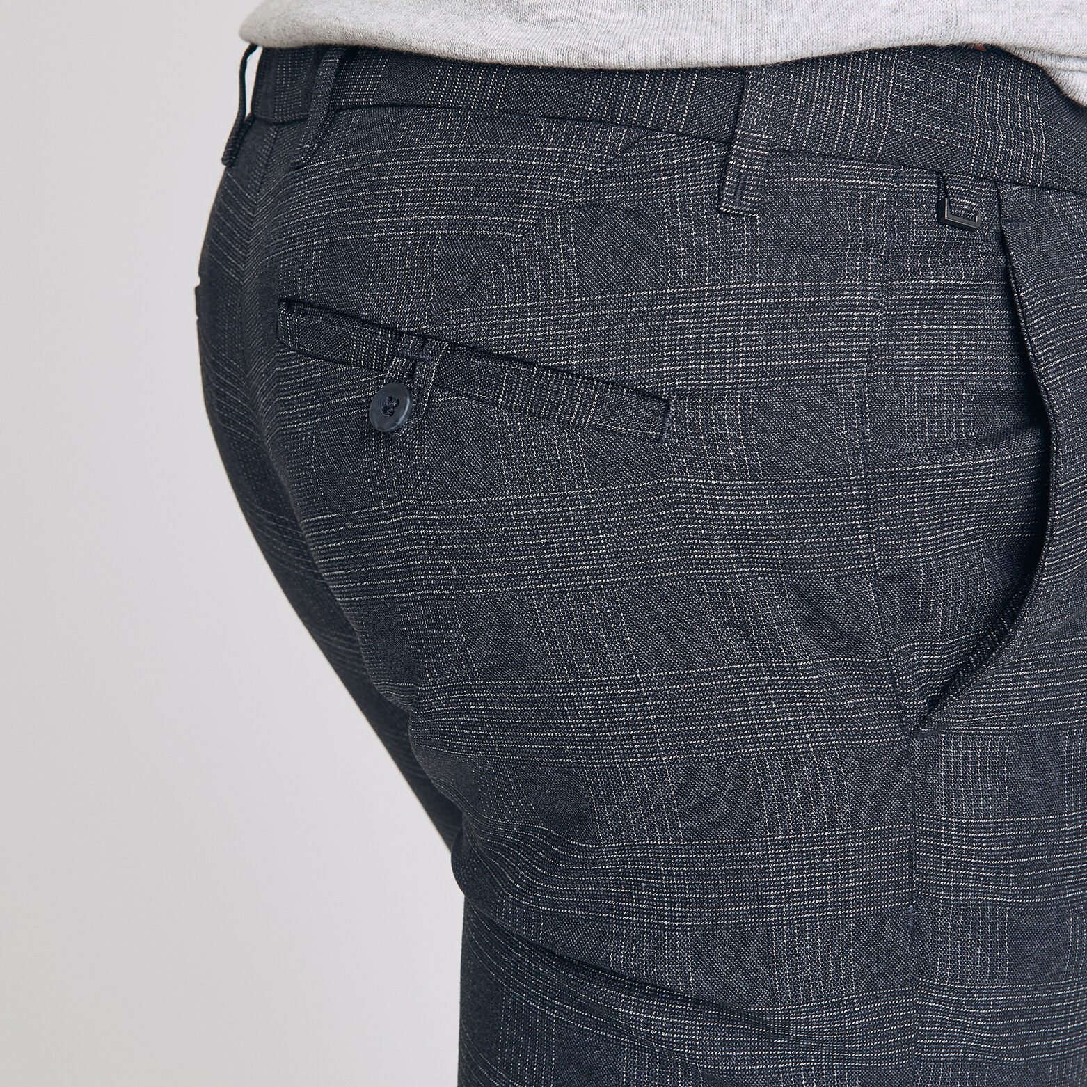 Pantalon chino à carreaux
