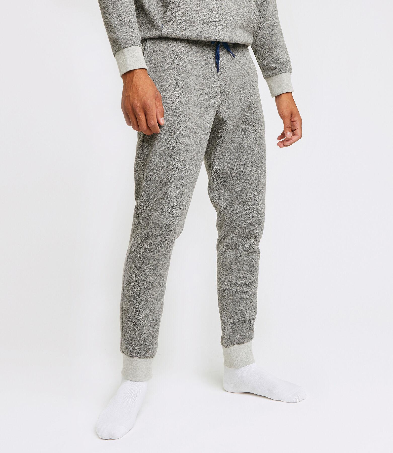 Pantalon de jogging chiné intérieur gratté RELAX