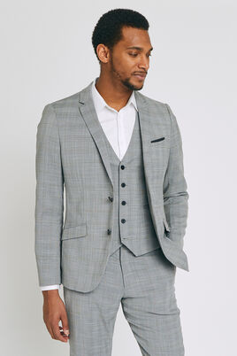 veste de Costume coupe Slim à carreaux prince de g