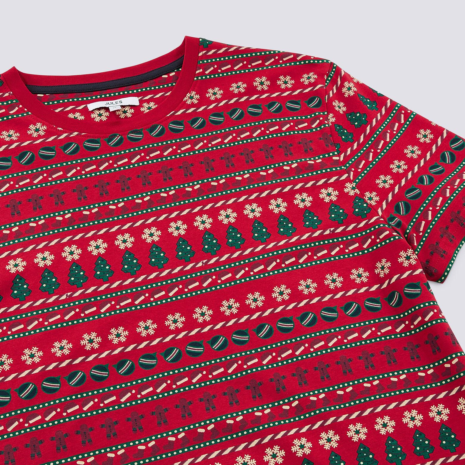 Ensemble Mini moi Tee shirt de Noël - Rouge Vif