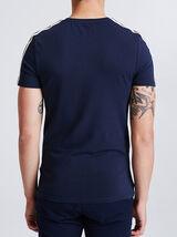 T-shirt met banden op de mouw, sportswear-stijl
