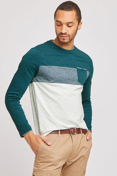 Tee-shirt colorblock coton issu de l'agriculture b