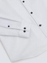 Chemise slim imprimé micro diamant non iron coton