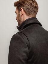 Manteau long double col montant