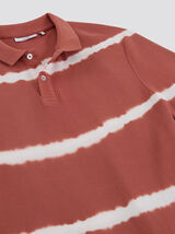 Polo manches courtes rayures Dip Dye