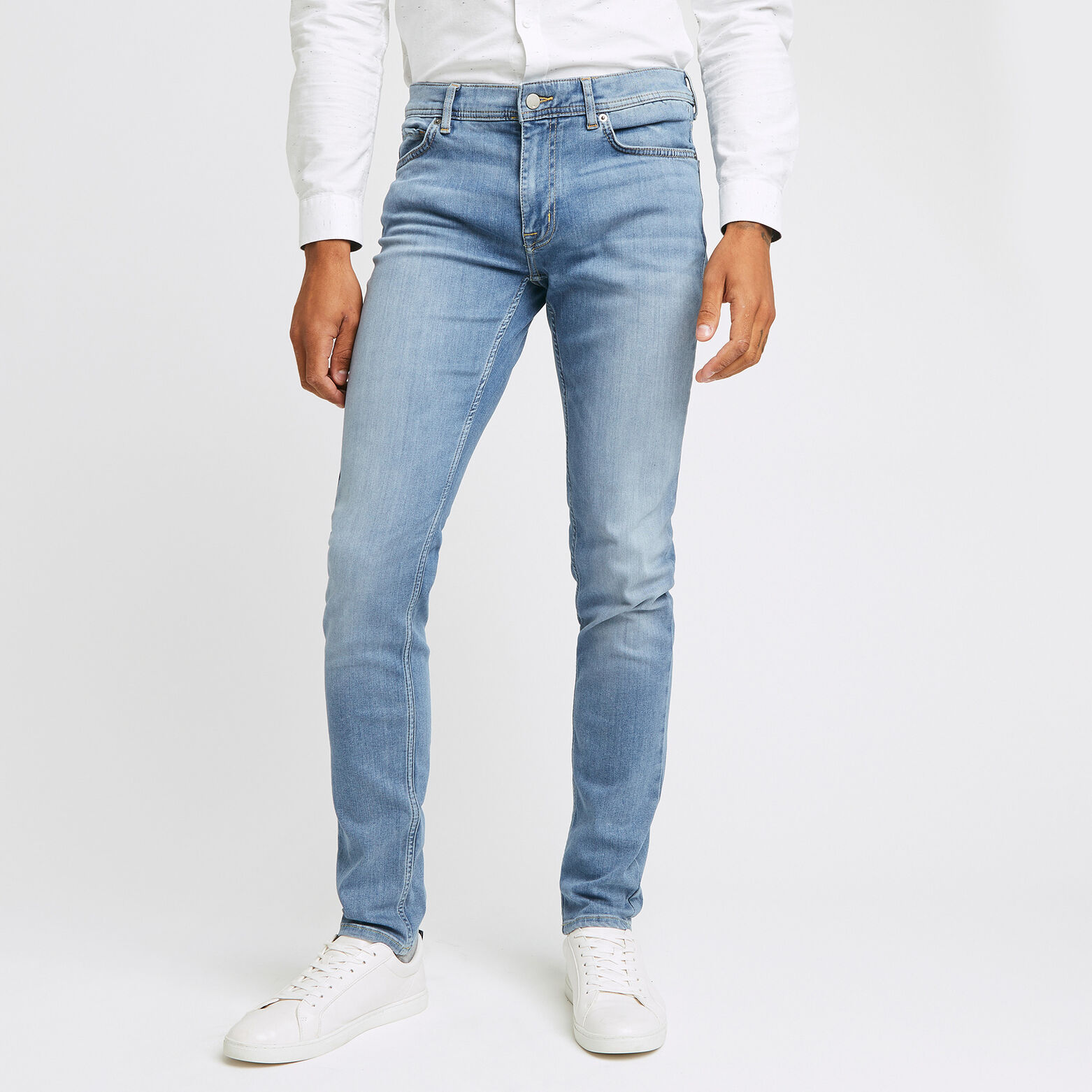 Jean slim #Tom urbanflex 4 longueurs bleach