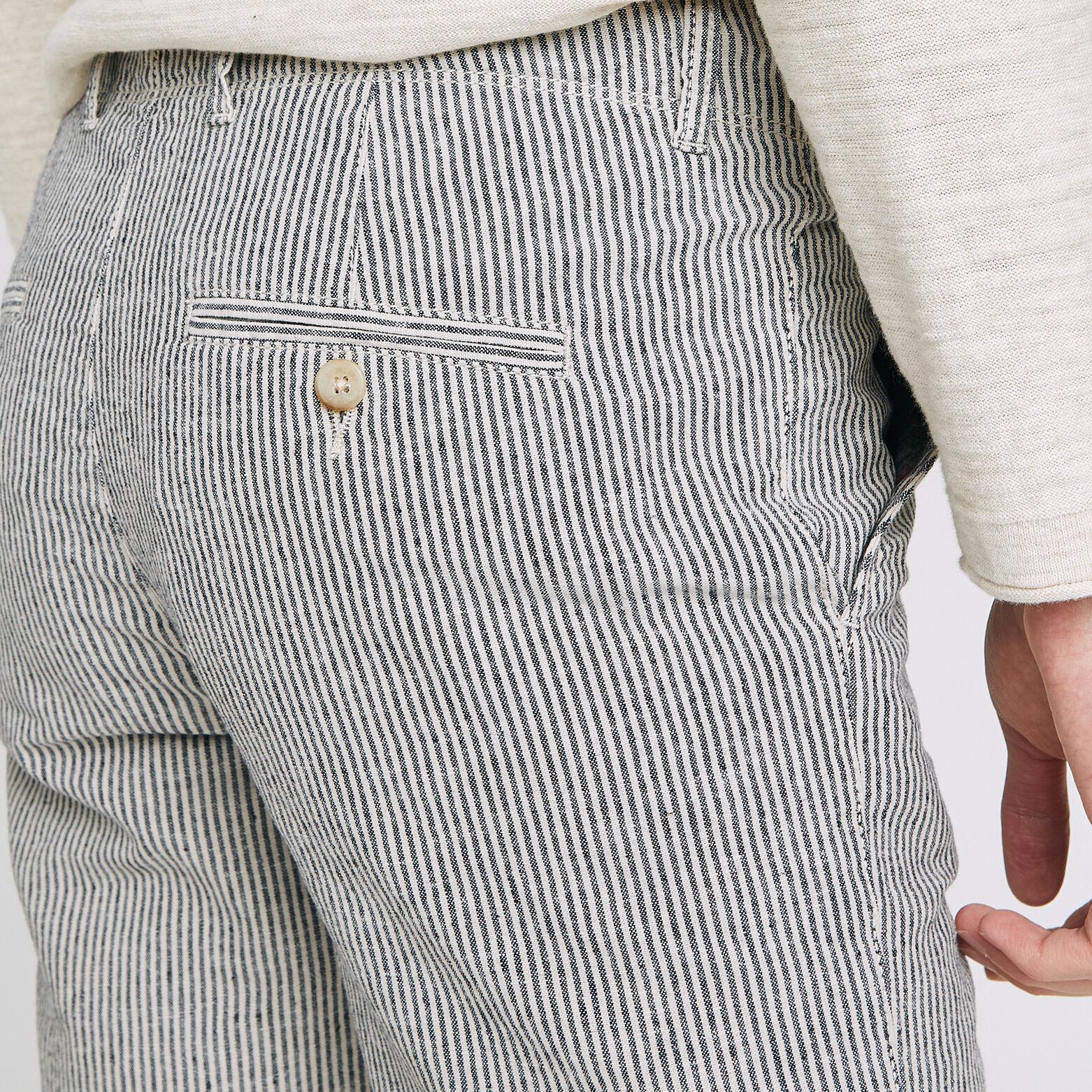 Bermuda coton lin coulissé