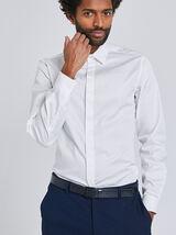 Slim hemd met blinde knooplijst