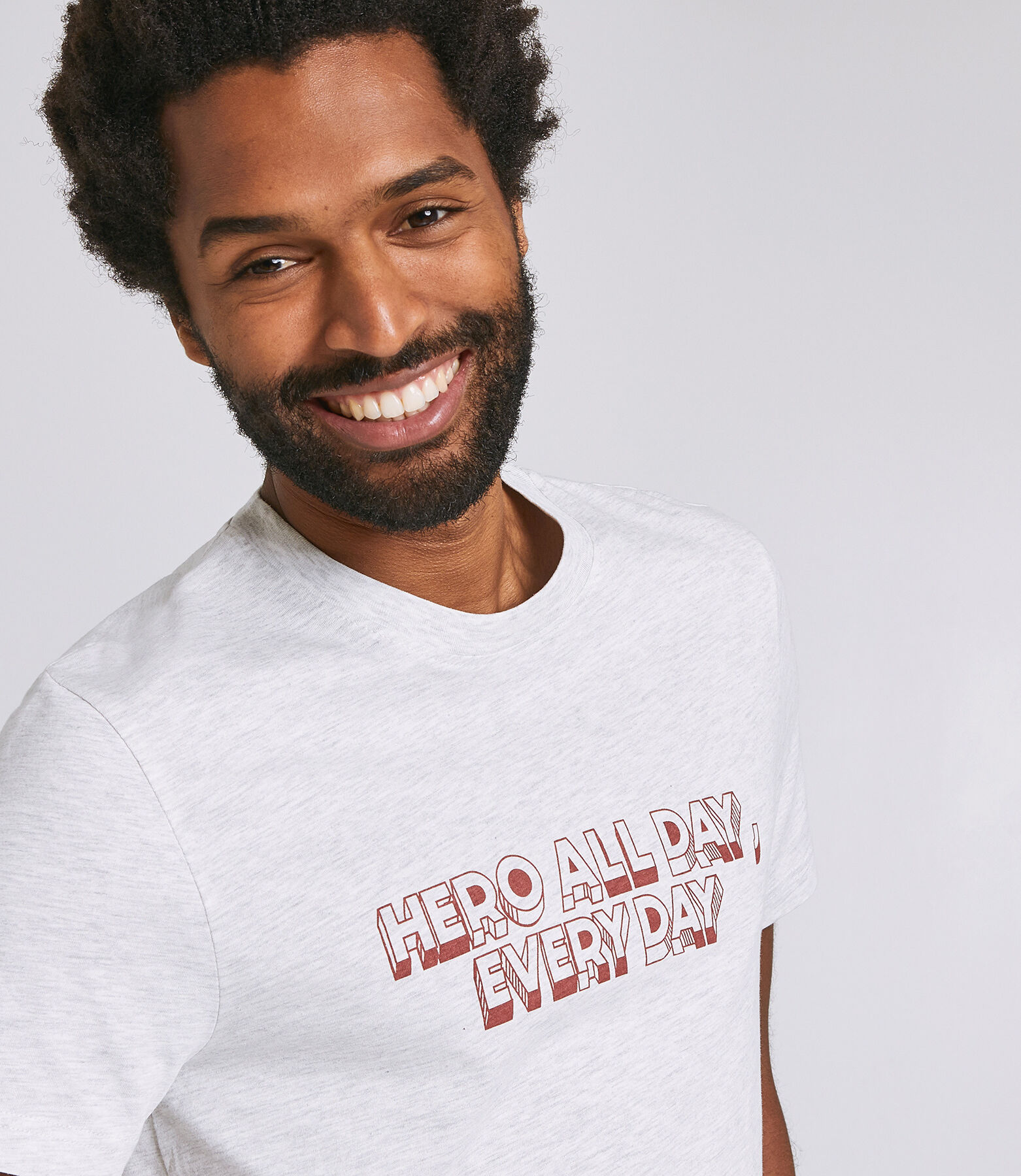 T-Shirt Gris Chine Clair