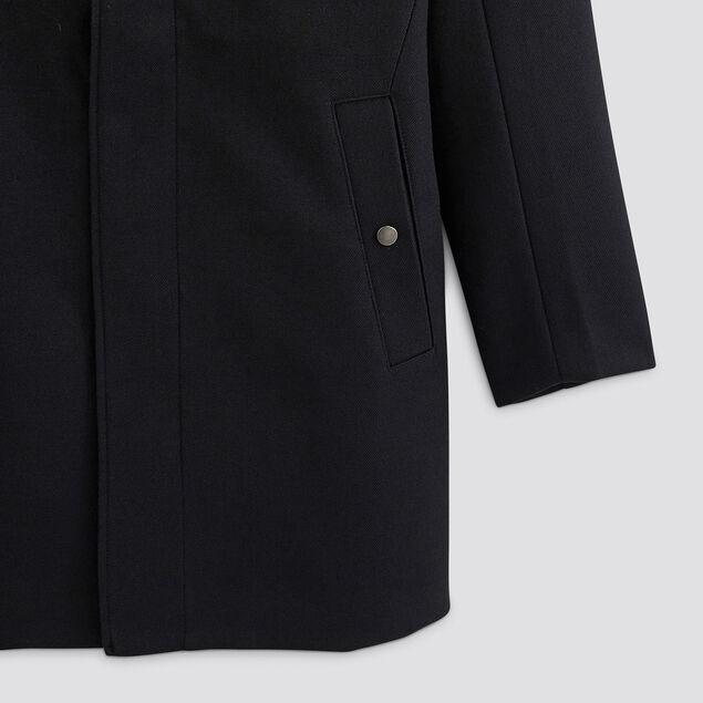 Manteau zippé col montant