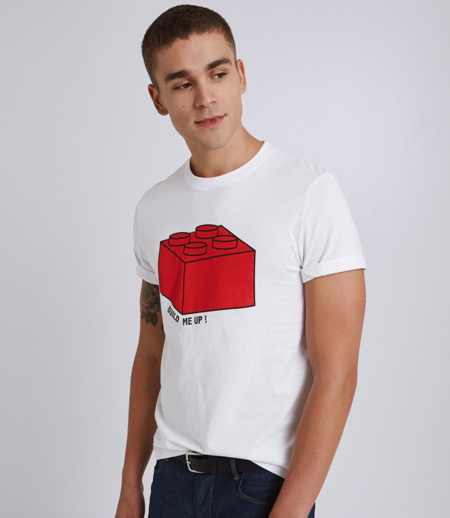 Tee shirt col rond Lego cube