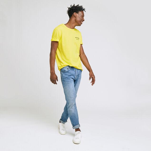 tee-shirt print devant et dos coton issu de l'agri