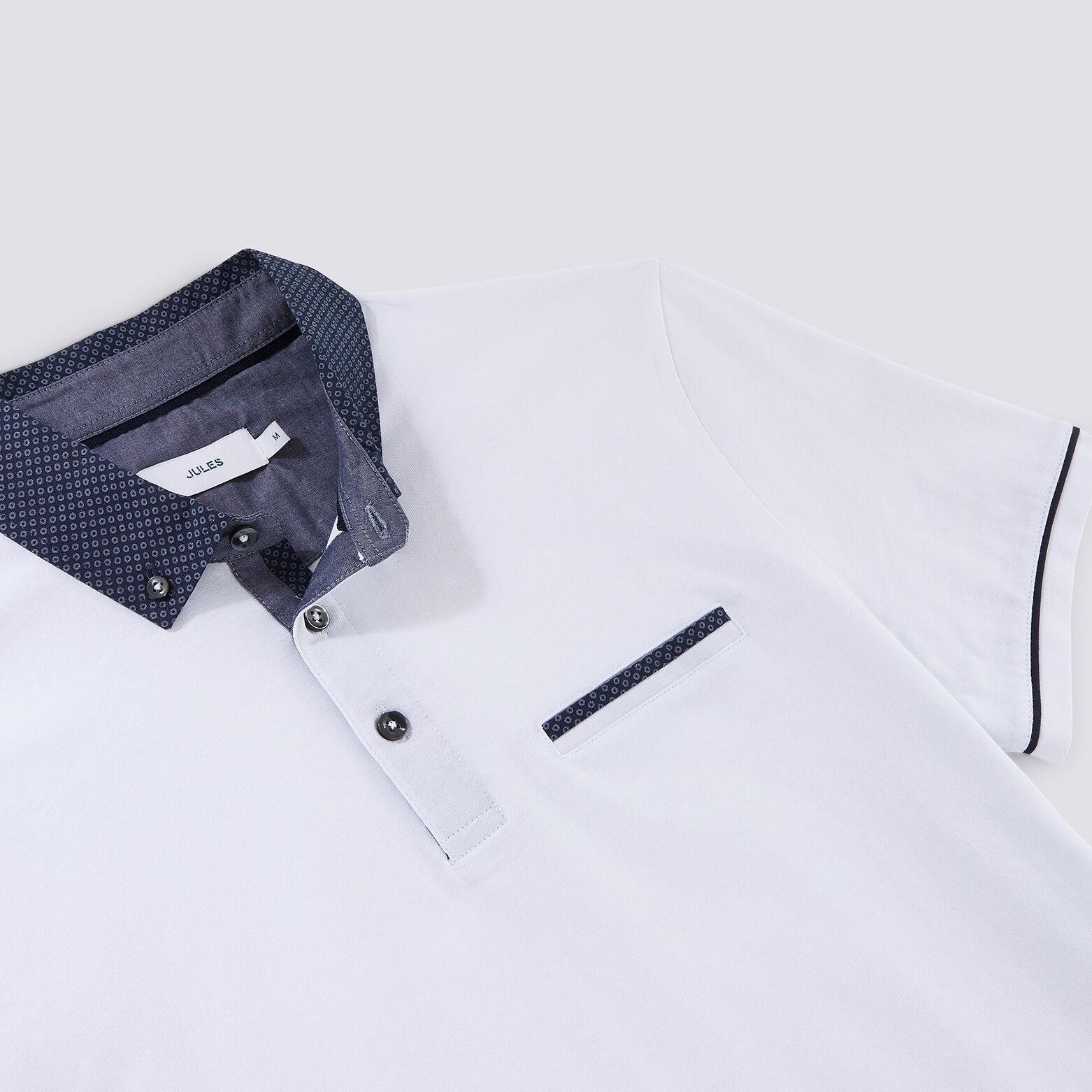 Polo en jersey col imprimé