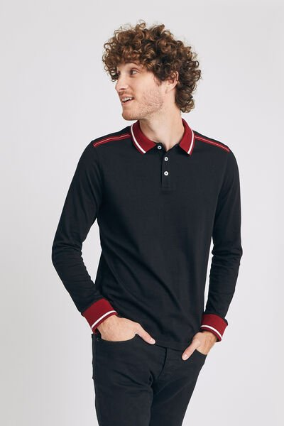 Polo manches longues jersey