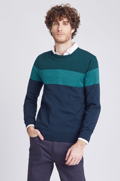 PULL COL ROND COLORBLOC