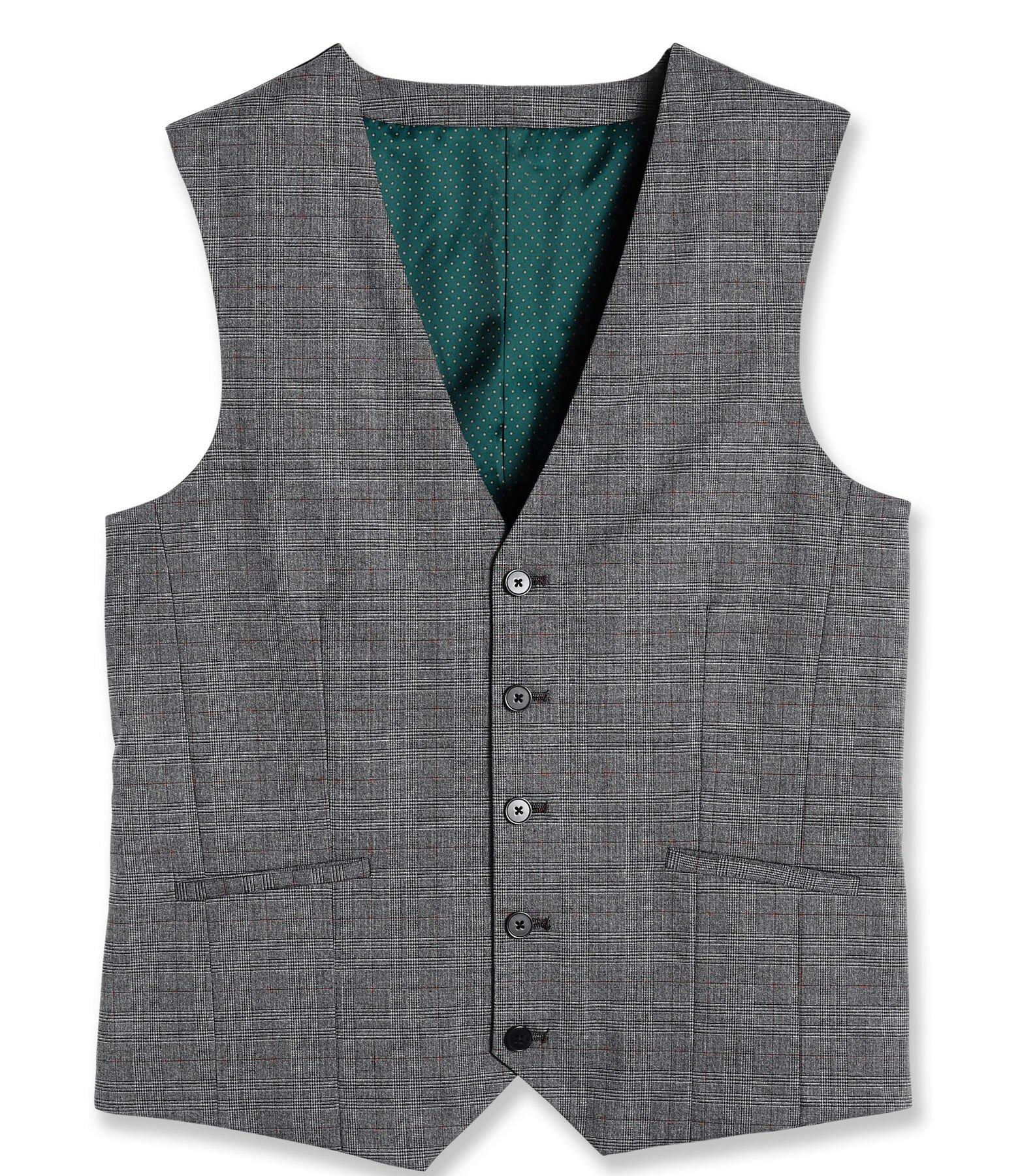 Gilet de costume slim motif Prince de Galles