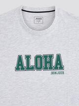 Tee-shirt coupe oversize avec print poitrine