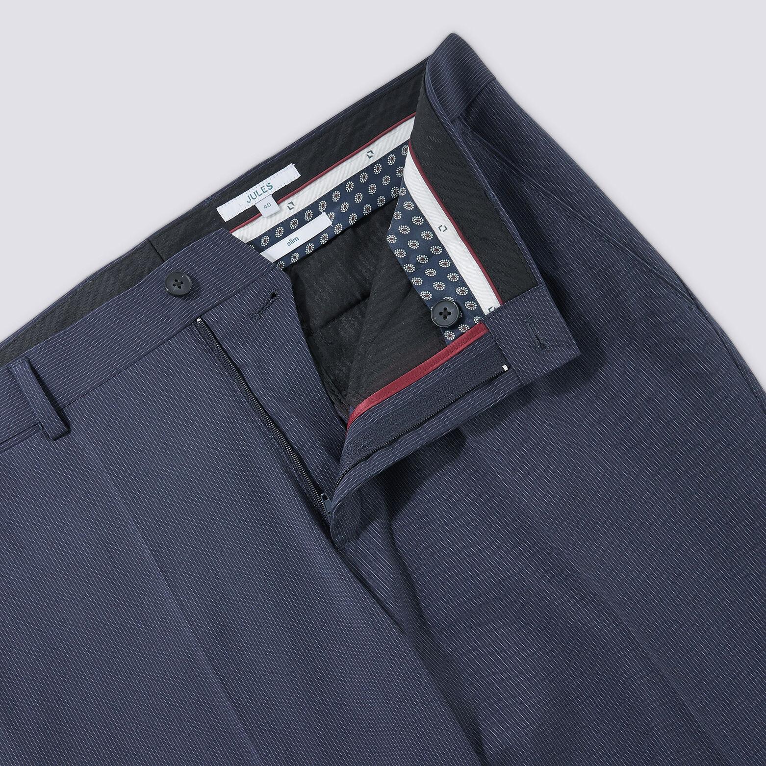 Pantalon de costume slim motif micro-rayures