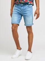 Bermuda  5 poches denim bleach