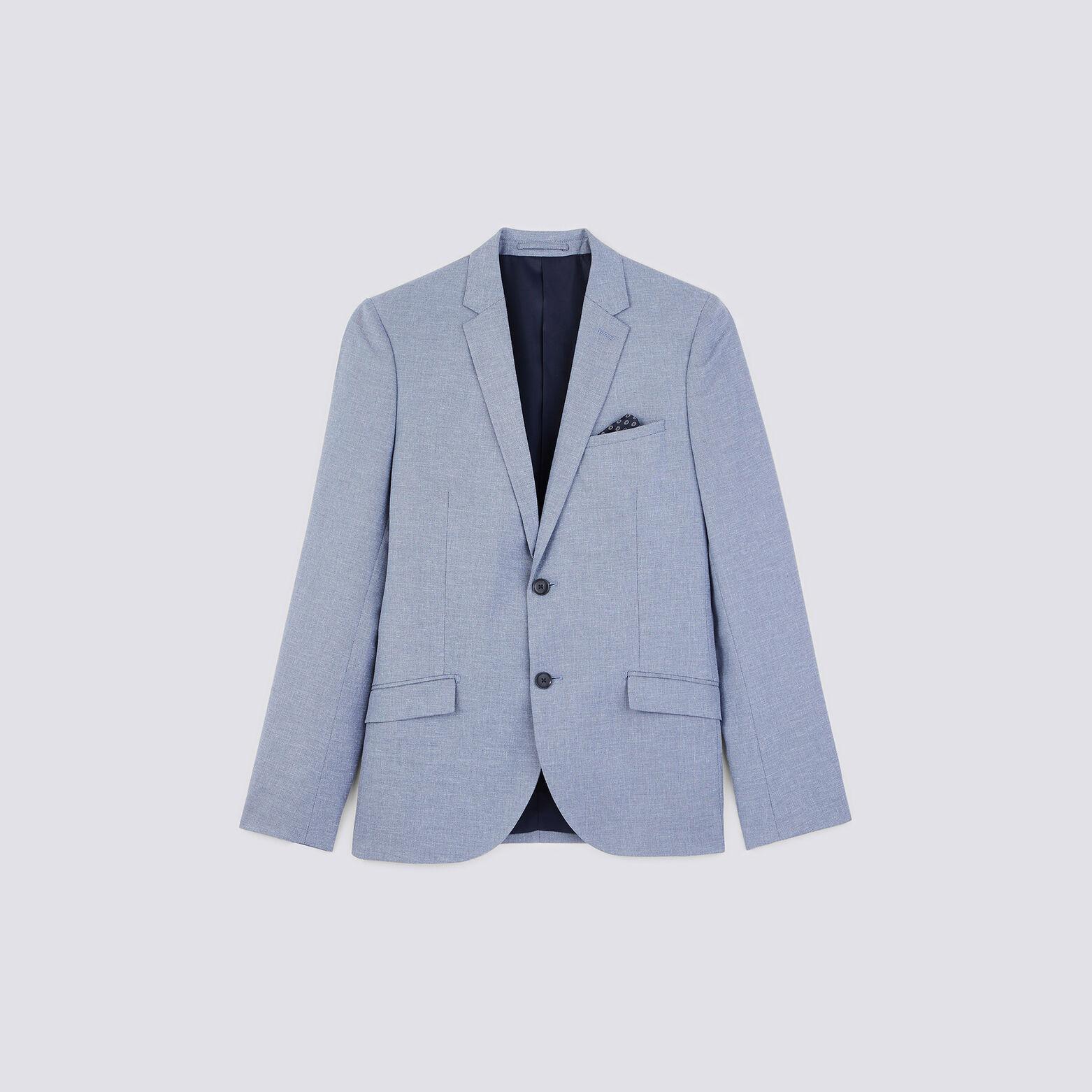 veste de costume slim avec lin