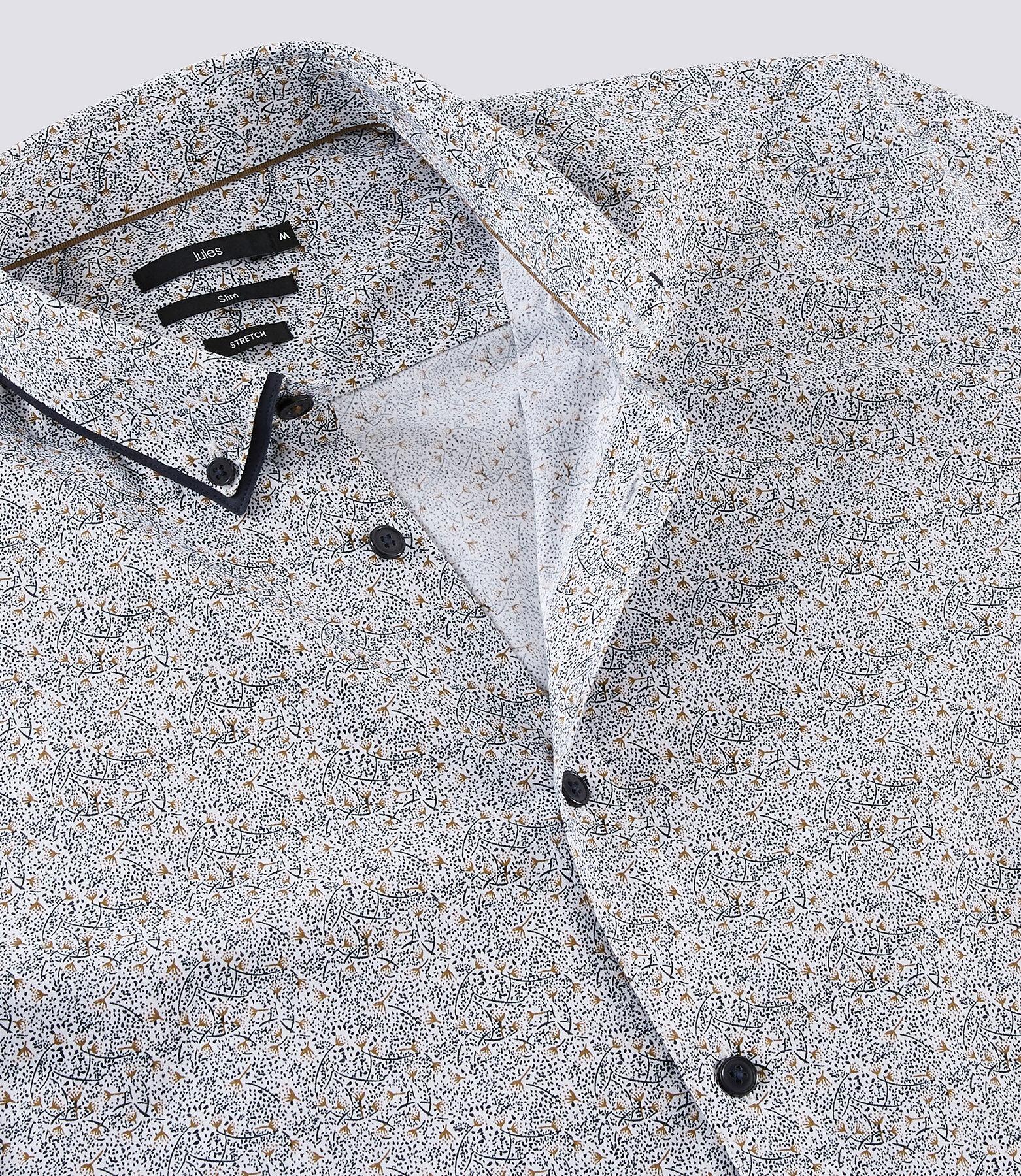 Chemise slim à double col