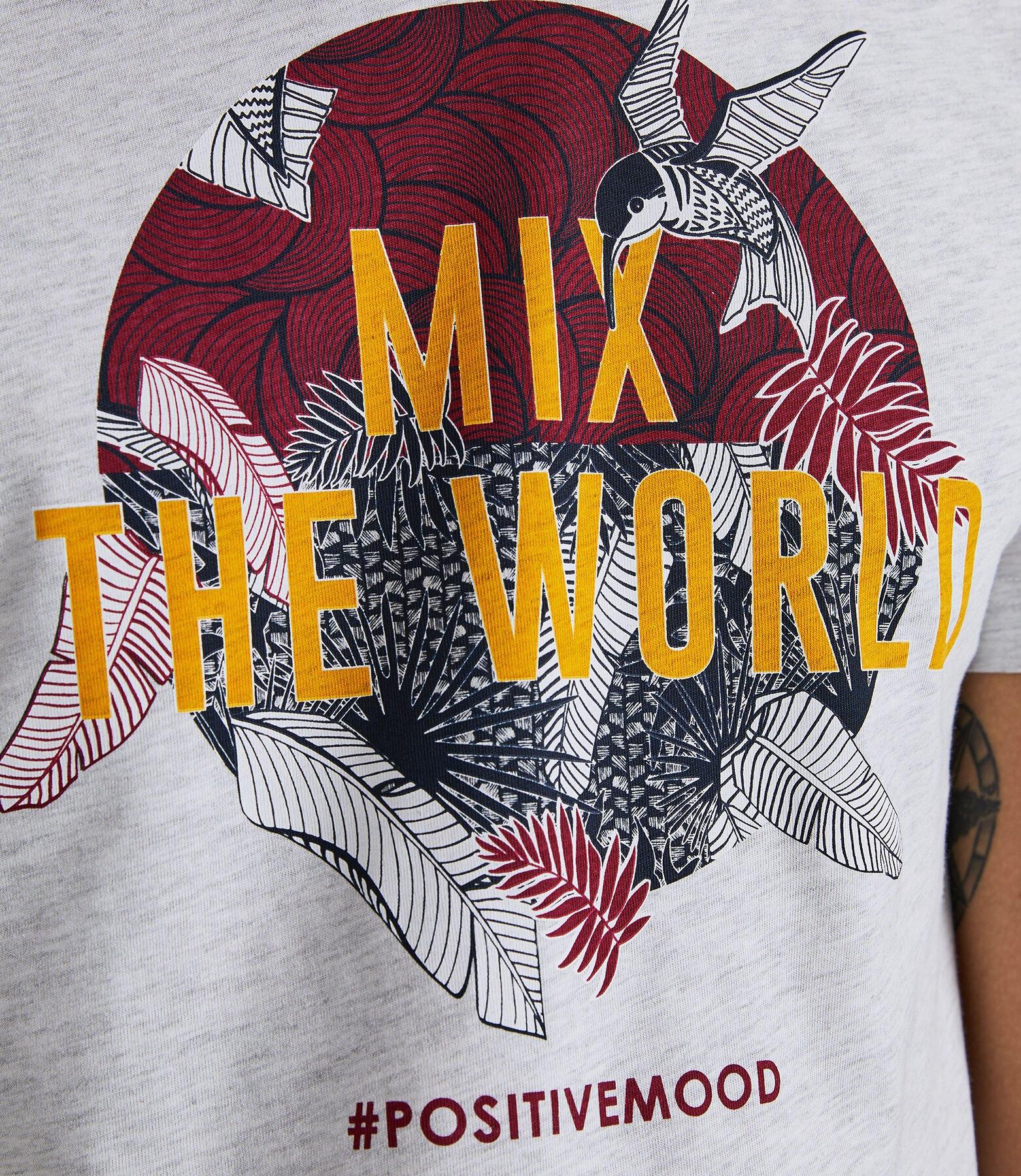 Tee shirt col rond imprimé Mix The World