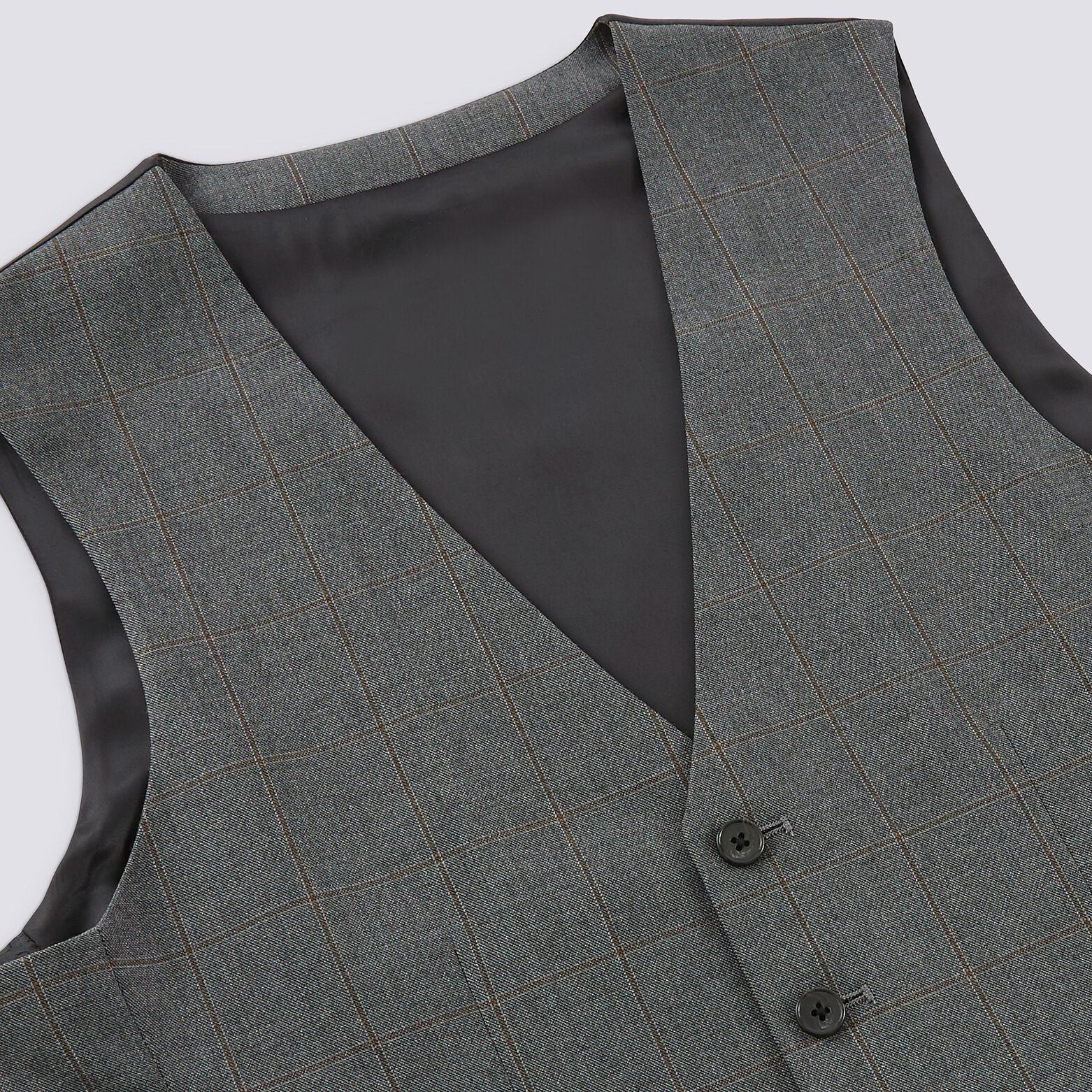 Gilet costume carreaux fenêtres voir veste
