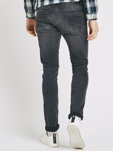 Jean skinny 5 poches délavé