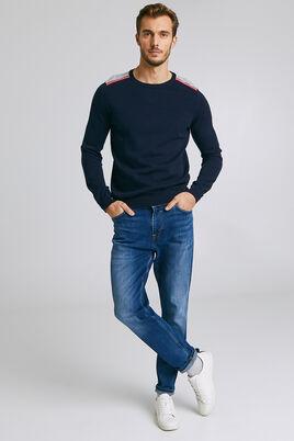Jean confort bleu délavé blanchi