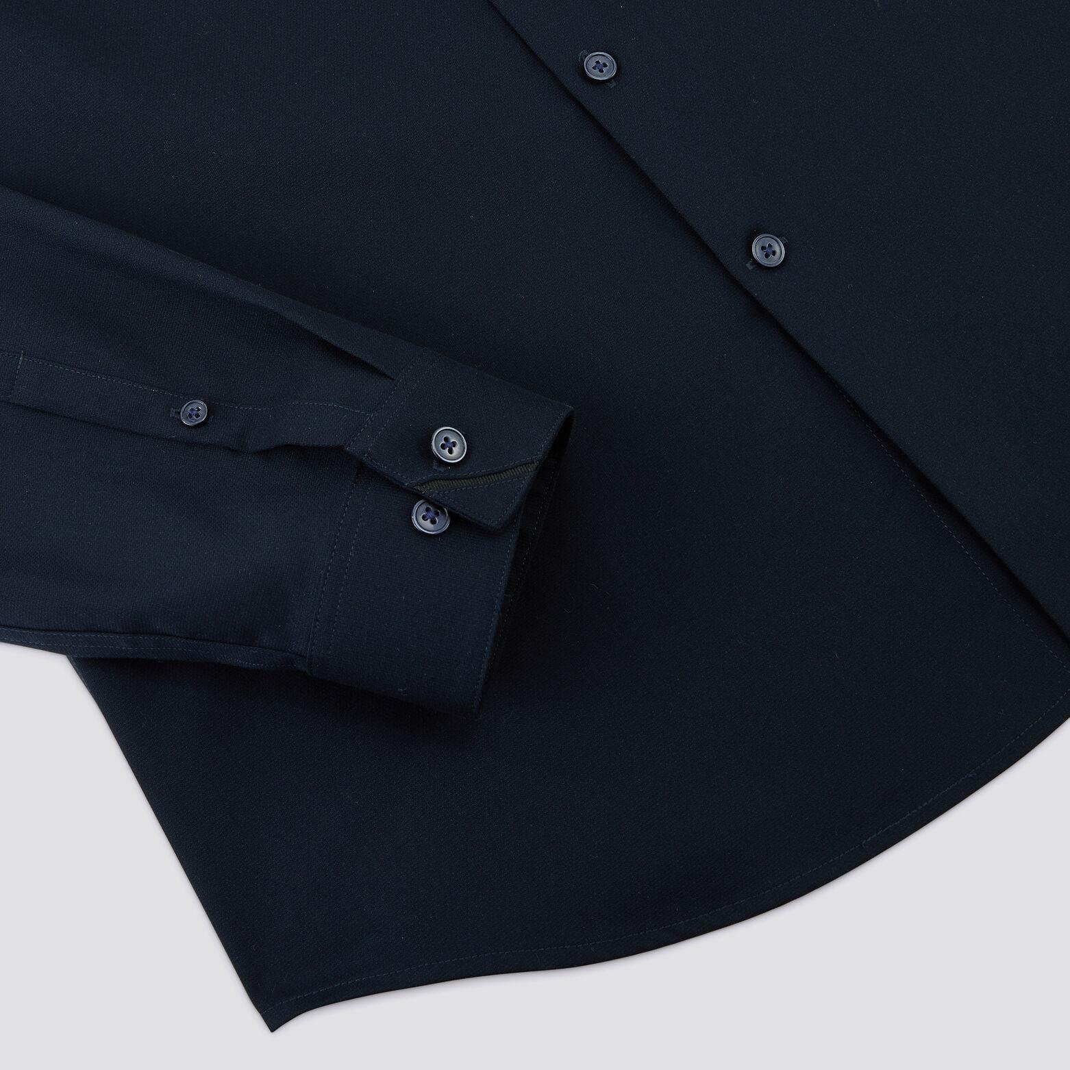 Chemise manches longues col contrasté