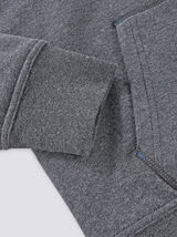 Sweat zippé fourré  à capuche RELAX