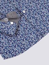 Chemise slim motif floral coton