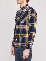 Chemise slim à carreaux coton issu de l¿agricultur