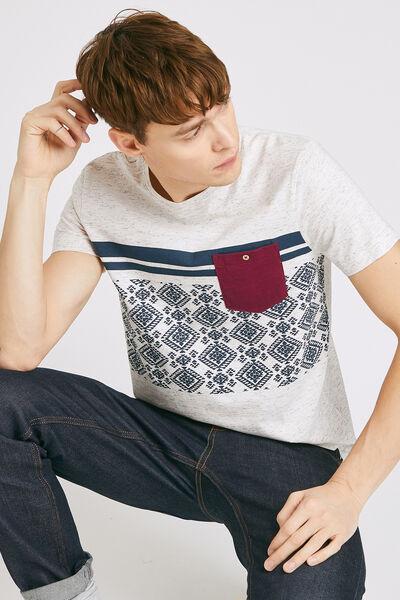 T-shirt colorblock imprimé aztèque