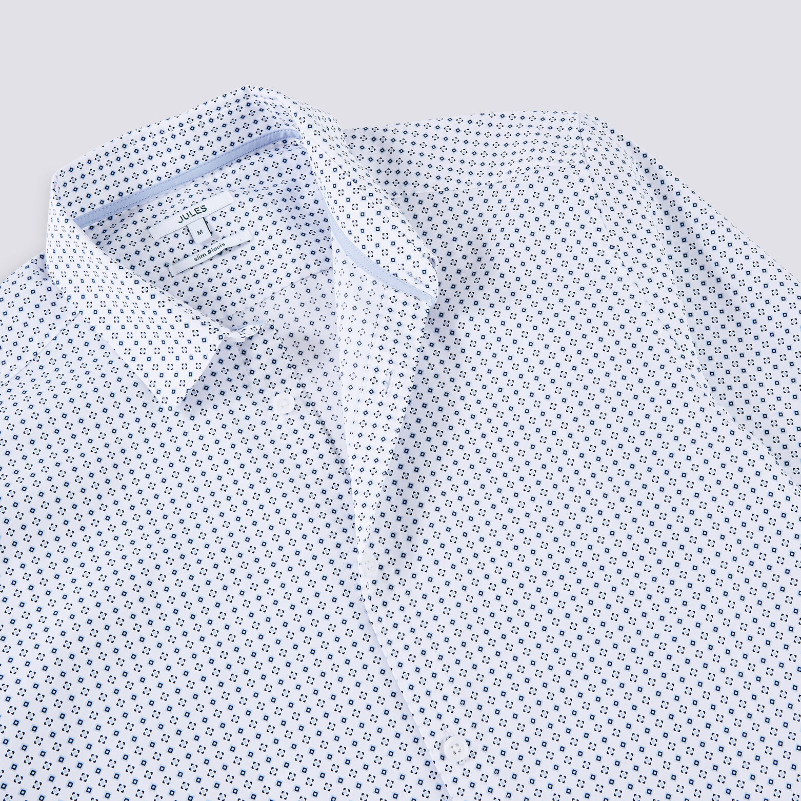 Chemise slim motif cravate coton